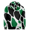 Green Black Digital Pattern Art Men s Pullover Hoodie View2