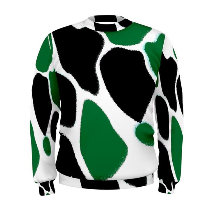 Green Black Digital Pattern Art Men s Sweatshirt