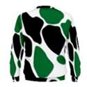 Green Black Digital Pattern Art Men s Sweatshirt View2