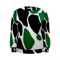 Green Black Digital Pattern Art Women s Sweatshirt
