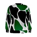 Green Black Digital Pattern Art Women s Sweatshirt View2