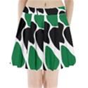 Green Black Digital Pattern Art Pleated Mini Skirt View1