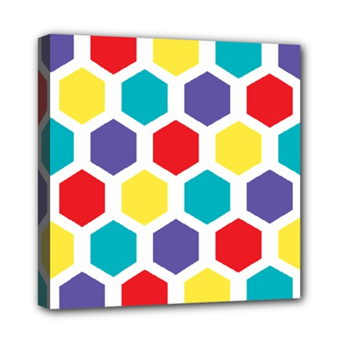 Hexagon Pattern  Mini Canvas 8  x 8