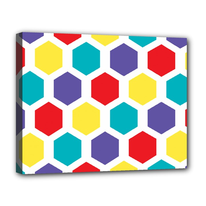 Hexagon Pattern  Canvas 14  x 11