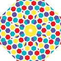 Hexagon Pattern  Folding Umbrellas View1
