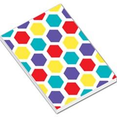 Hexagon Pattern  Large Memo Pads