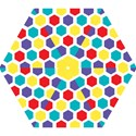 Hexagon Pattern  Mini Folding Umbrellas View1