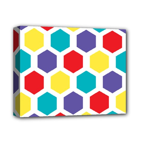 Hexagon Pattern  Deluxe Canvas 14  x 11