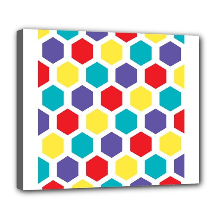 Hexagon Pattern  Deluxe Canvas 24  x 20