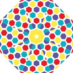Hexagon Pattern  Hook Handle Umbrellas (Medium)