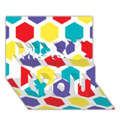 Hexagon Pattern  Miss You 3D Greeting Card (7x5)