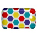 Hexagon Pattern  HTC Wildfire S A510e Hardshell Case View1