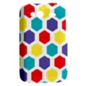 Hexagon Pattern  HTC Wildfire S A510e Hardshell Case View2