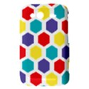 Hexagon Pattern  HTC Wildfire S A510e Hardshell Case View3