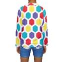 Hexagon Pattern  Kids  Long Sleeve Swimwear View2