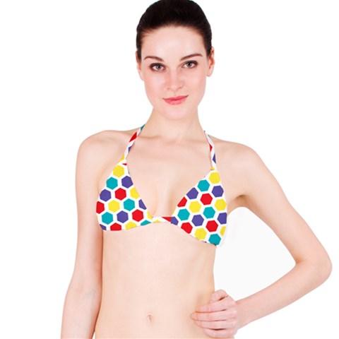 Hexagon Pattern  Bikini Top