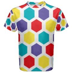 Hexagon Pattern  Men s Cotton Tee