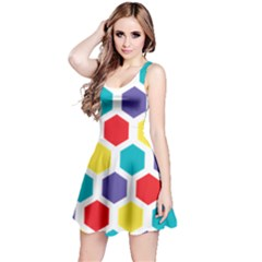 Hexagon Pattern  Reversible Sleeveless Dress