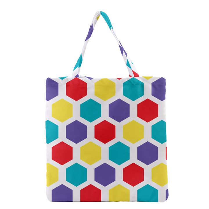 Hexagon Pattern  Grocery Tote Bag