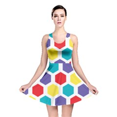 Hexagon Pattern  Reversible Skater Dress