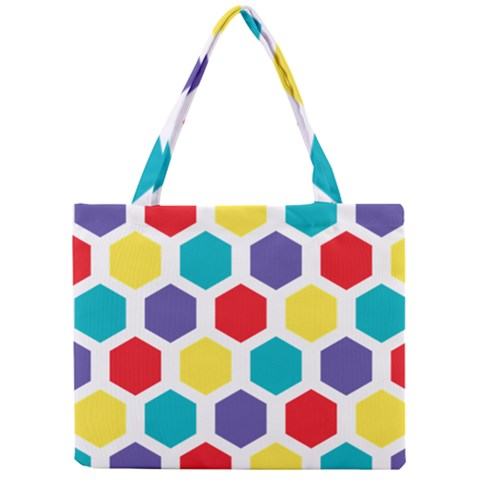 Hexagon Pattern  Mini Tote Bag