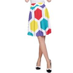Hexagon Pattern  A-Line Skirt
