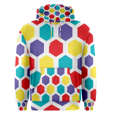 Hexagon Pattern  Men s Pullover Hoodie