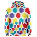 Hexagon Pattern  Men s Pullover Hoodie View1
