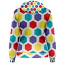 Hexagon Pattern  Women s Pullover Hoodie View2