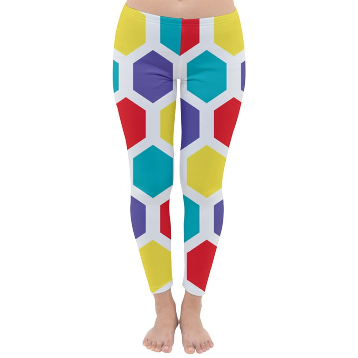 Hexagon Pattern  Winter Leggings