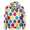 Hexagon Pattern  Men s Zipper Hoodie View2