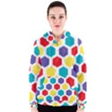 Hexagon Pattern  Women s Zipper Hoodie View1