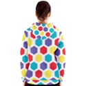 Hexagon Pattern  Women s Zipper Hoodie View2