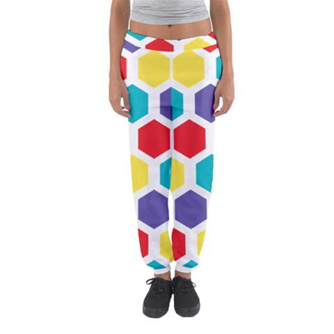 Hexagon Pattern  Women s Jogger Sweatpants
