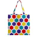 Hexagon Pattern  Zipper Grocery Tote Bag View1