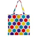 Hexagon Pattern  Zipper Grocery Tote Bag View2