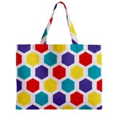 Hexagon Pattern  Zipper Mini Tote Bag