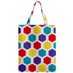 Hexagon Pattern  Zipper Classic Tote Bag