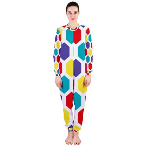 Hexagon Pattern  OnePiece Jumpsuit (Ladies)