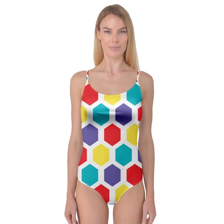 Hexagon Pattern  Camisole Leotard