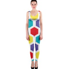 Hexagon Pattern  OnePiece Catsuit