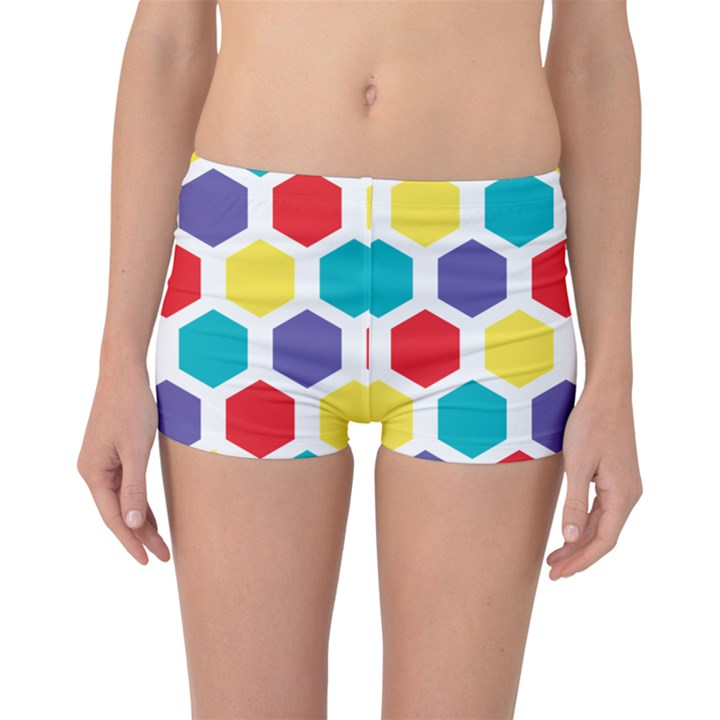 Hexagon Pattern  Boyleg Bikini Bottoms