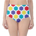 Hexagon Pattern  High-Waist Bikini Bottoms View1