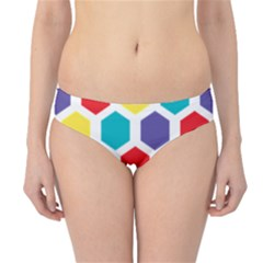 Hexagon Pattern  Hipster Bikini Bottoms