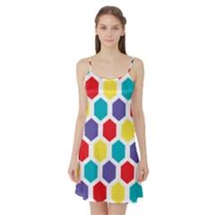 Hexagon Pattern  Satin Night Slip