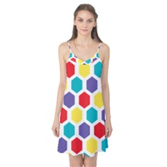 Hexagon Pattern  Camis Nightgown