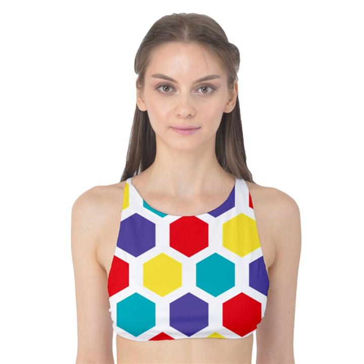 Hexagon Pattern  Tank Bikini Top