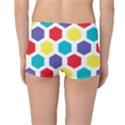 Hexagon Pattern  Reversible Boyleg Bikini Bottoms View4