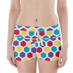 Hexagon Pattern  Boyleg Bikini Wrap Bottoms
