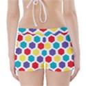 Hexagon Pattern  Boyleg Bikini Wrap Bottoms View2